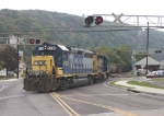 CSX 6130 shoving onto the Hampshire Sub